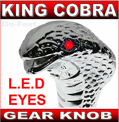 Gear Shift Knob - King Cobra - Red Flashing Led Eyes - Led Gear Knob