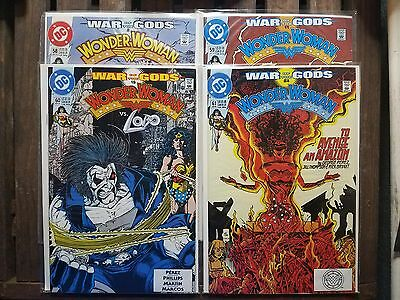 DC COMICS Wonder Woman #58-61 1991 War of the Gods, George Perez