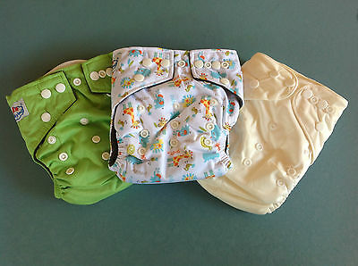 Baby Bamboo Cloth Nappies Inserts MCNs 3 Types Try Mixed One Size Adjustable Eco