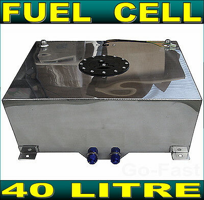 Fuel Cell 40L Litre 10 Gallon Aluminium Fuel Tank + Sender & Internal Foam Layer