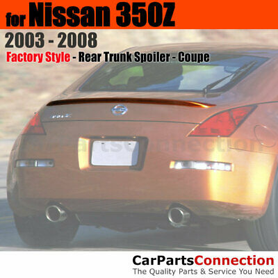 Painted Trunk Spoiler For 00-08 Nissan 350Z Convertible No Drill G41 BLACK MET