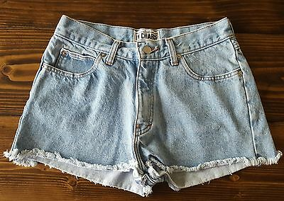 In Charge Vintage Light Wash Distressed Jean Shorts Women's Size 9