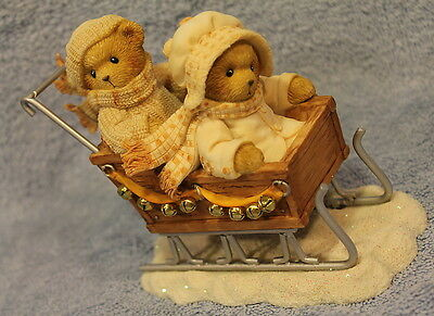 Fran Vinney Lovely Weather Sleigh Cherished Teddies MIB