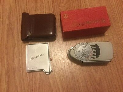 Leica M Light Meter with Leica meter booster made in germany