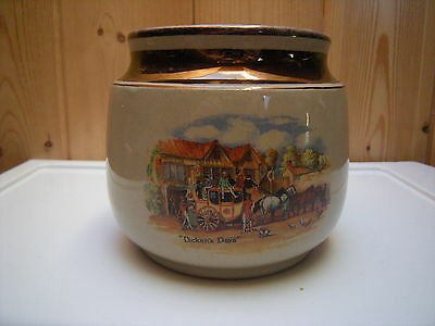 Vintage Gray's Pottery Dickens Days Tobacco Humidor