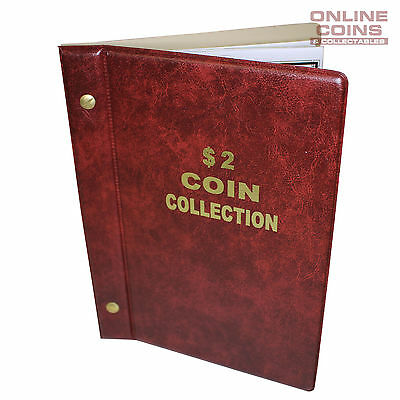 VST Australian $2.00 Coin Album 1988-2019 With Printed Mintage Interleaves RED