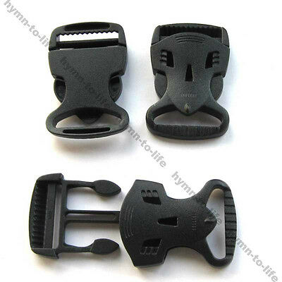 "10 sets Black plastic Monster Buckle attraction For 1-1/4"" webbing M346-32"