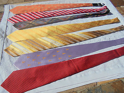 Vintage Retro Mens Dress Ties Fletcher Jones,pure Silk,handmade Etc.look Unused