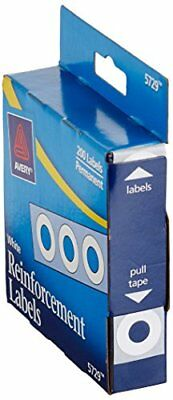 Avery White Self-Adhesive Reinforcement Labels, 0.25 Inch Round, Pack of 200
