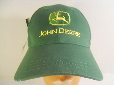 JOHN DEERE Advertising Hat Cap 1 Size Fits Most Buckle Strap Adjustable NWTA #3