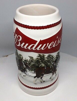 2016 Budweiser Holiday Stein Christmas Beer Mug from two years ago Annual series