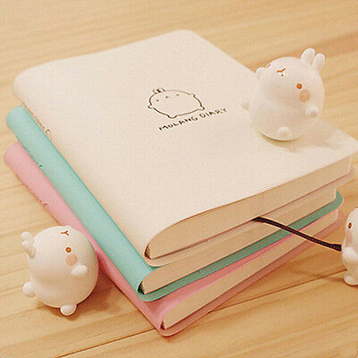Korean Style Cute Rabbit Molang Planner Agenda Scheduler Study Notebook Diary