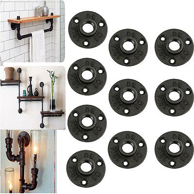 10Pcs 3/4'' Malleable Threaded Floor Flange Iron Pipe Fittings Wall Mount #$