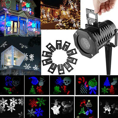 48 Pattern LED Moving Laser Projector Landscape Stage Light Party Xmas Outdoor