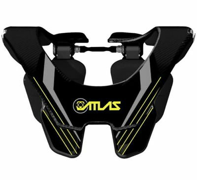 NEW 2017 Atlas Air Carbon Neck Brace Black Glow Small S  - $499 Retail