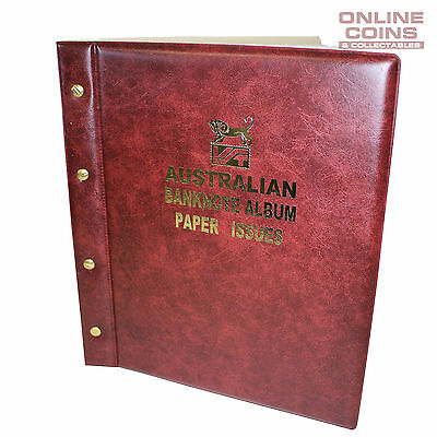 VST Banknote Album Padded Cover Decimal Paper Notes with Pictures - RED