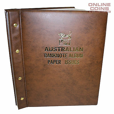 VST Banknote Album Padded Cover Decimal Paper Notes with Pictures - BROWN