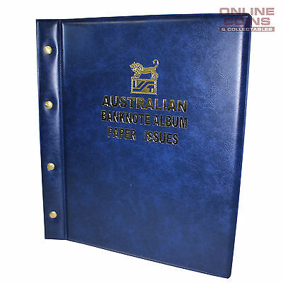 VST Banknote Album Padded Cover Decimal Paper Notes with Pictures - BLUE