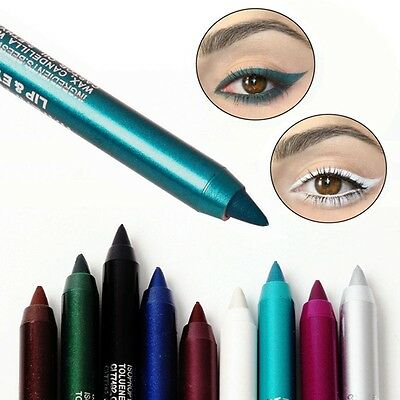 New Long lasting Eye Liner Pencil Pigment Waterproof White Color Eyeliner Makeup