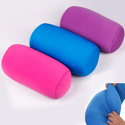 Mini Microbead Back Cushion Roll Throw Pillow Travel Home Sleep Neck Support