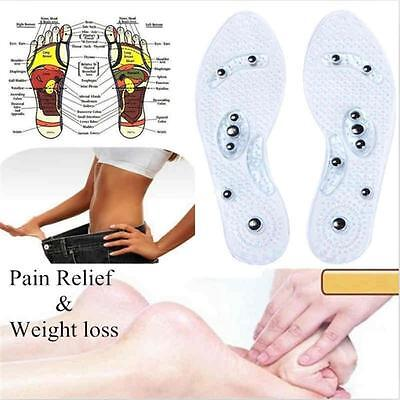 1 Pair Unisex Magnetic Therapy Silicone Anti-fatigue Massage Insoles Practical Y