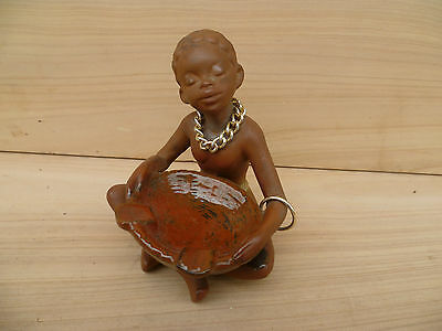 Vintage Old Tribal Girl, Retro Ashtray, Old Figure, No.2