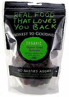 Honest To Goodness Organic Dried Apricots Sulphur Free 200g