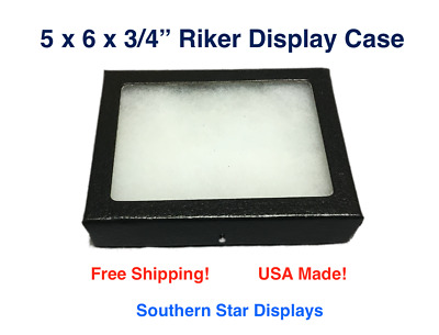 Riker Display Case 5 x 6 x 3/4 for Collectibles Arrowheads Jewelry & More