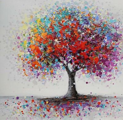 Colorful Tree Abstract  /100% cotton wall home Decor high quality Canvas