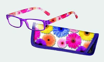 Spoontiques Reading Glasses w/  Matching Case Flowers