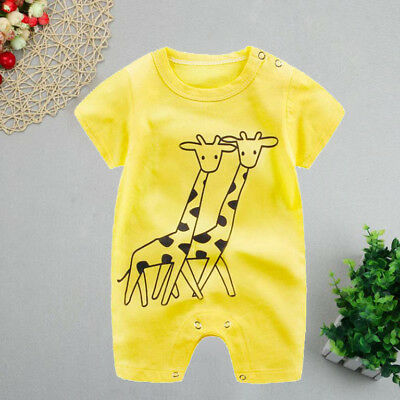 Summer Newborn Infant Baby Boy Girl Cartoon Romper Jumpsuit Climbing Clothes