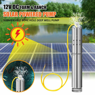 24V DC 2m3/H Solar Powered Water Pump Farm&Ranch Submersible Bore Hole Deep Well