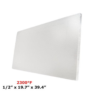 "1/2"" Refractory Ceramic Fiber Insulation Board 2300F 19.7"" X 39.4"""