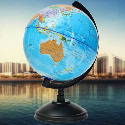 14cm World Globe Country Region District Map Swivel Stand Geography Education AU