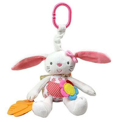 Baby Infant Soft Plush Rabbit Rattle Ring Bell Stroller Crib Bed Hanging Toy B