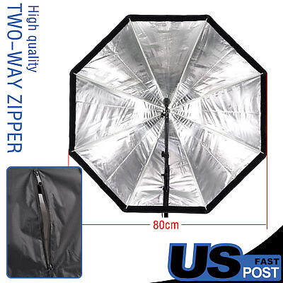 "PRO 80cm 32"" Octagon Umbrella Softbox Brolly Reflector for Flash Speedlite"