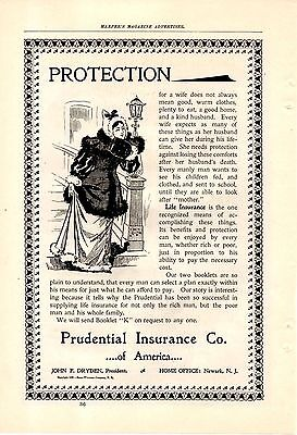 1896 Prudential Life Insurance Ad-Wife Protection