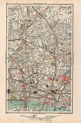 1933 London Map- Islington,hoxton,shoreditch,clerkenwell,holborn