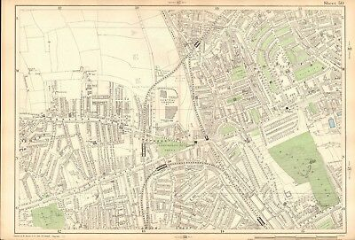 1906 Large Map-Bacon 9 Inch - Notting Hill, Shepherd's Bush