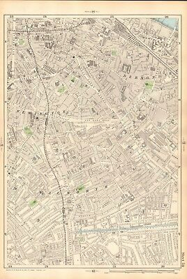 1906 Large Map-Bacon 9 Inch - Newington, Bermondsey, Walworth