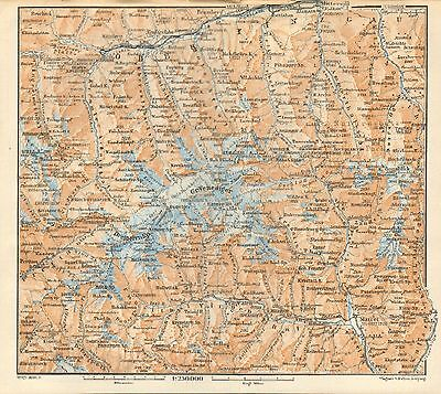 1927  Vintage Map-Tyrol- Alps-Venediger Group, Ober Pinzgau