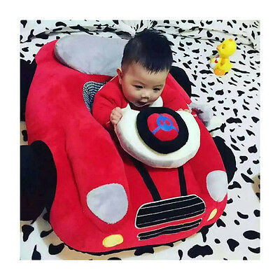 Infant Baby Soft Car Shaped Seat Trottie Cartoon Sofa Plush Toys For 4M-3T Baby
