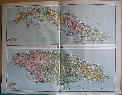 1919 Large Map- West Indies, Islands, Jamaica, Cuba