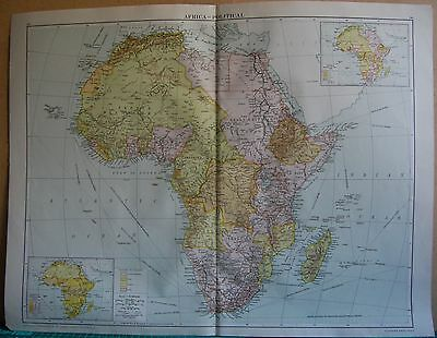 1919 Large Map- Africa, Political