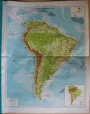 1919 Large Map- South America-Physical