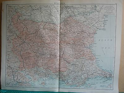 1919 Large Map- Europe-Bulgaria