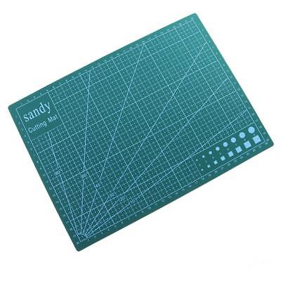 A4 Double Sided Cutting Mat Cutting Board Printed Grid Lines Board Green