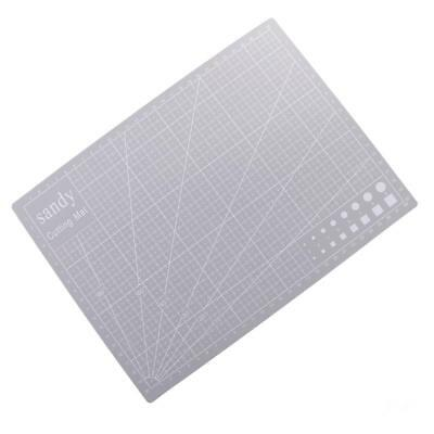 A4 Double Sided Cutting Mat Cutting Board Printed Grid Lines Board Grey
