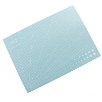 A4 Double Sided Cutting Mat Cutting Board Printed Grid Line Board Mint green