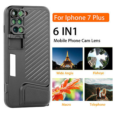 ☆3RD Shockproof Case + Switch 6 Camera Lens Protect Case Macro For iPhone 7 Plus